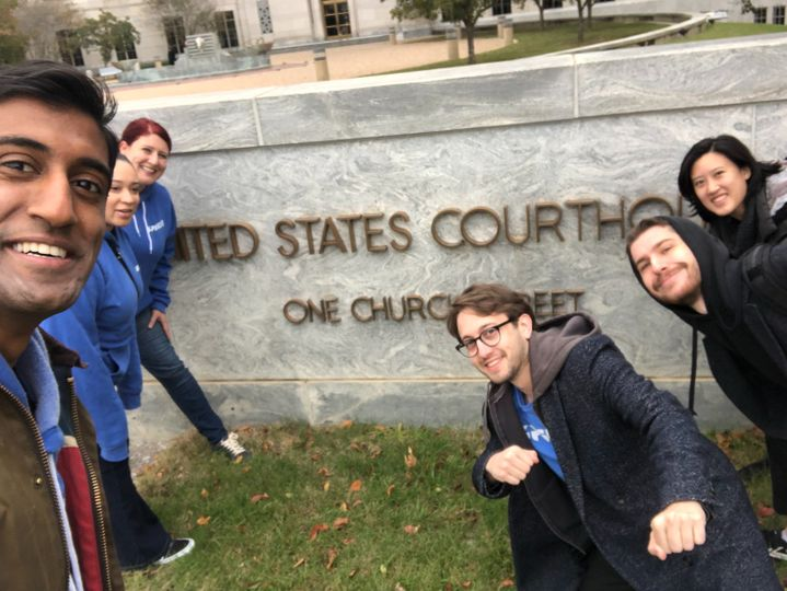 Upsolve team at the Albama Bankruptcy Courthouse